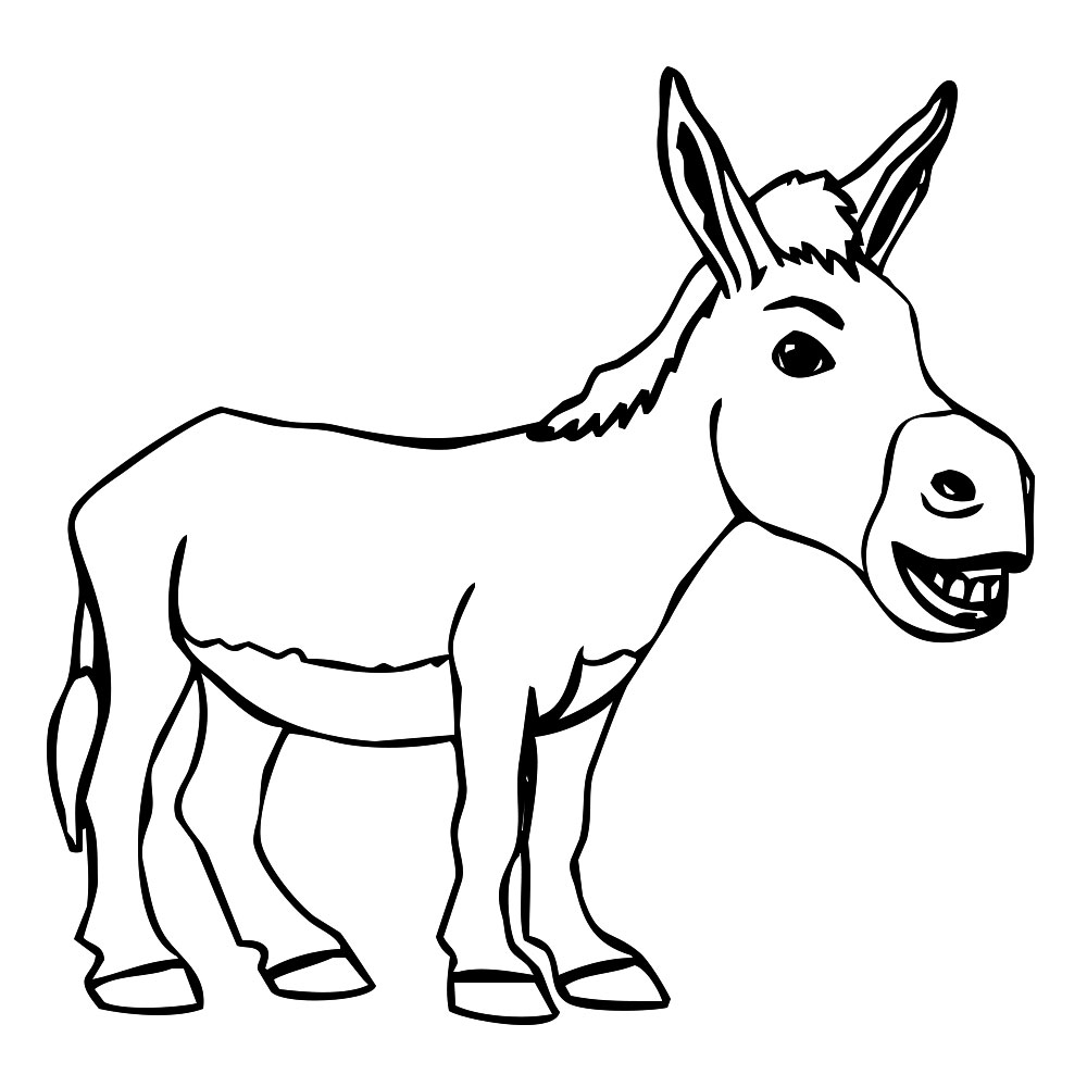 how to draw a mule how to draw a donkey step by step for kids youtube mule a draw how to