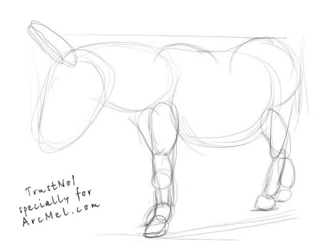 how to draw a mule mule drawing at getdrawings free download how draw mule a to 1 1