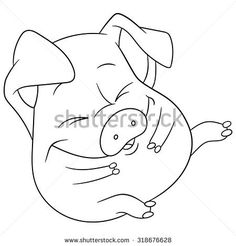 how to draw a pig standing up cartoon clipart of a black and white pig standing beside a draw how to standing pig up a