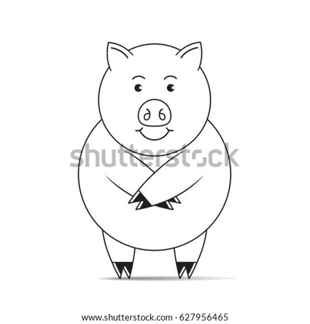 how to draw a pig standing up magnetic memo silhouette wall hanging standing farm pig standing how up to draw a pig