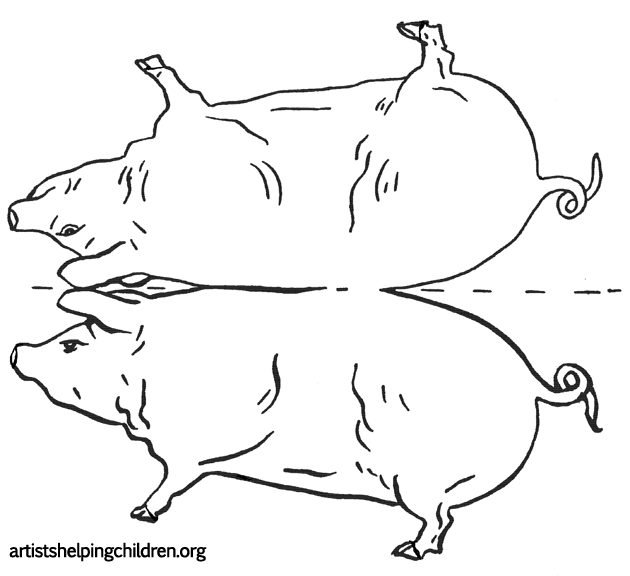 how to draw a pig standing up pig cartoon drawing in 4 steps with photoshop cartoon standing up draw pig to a how