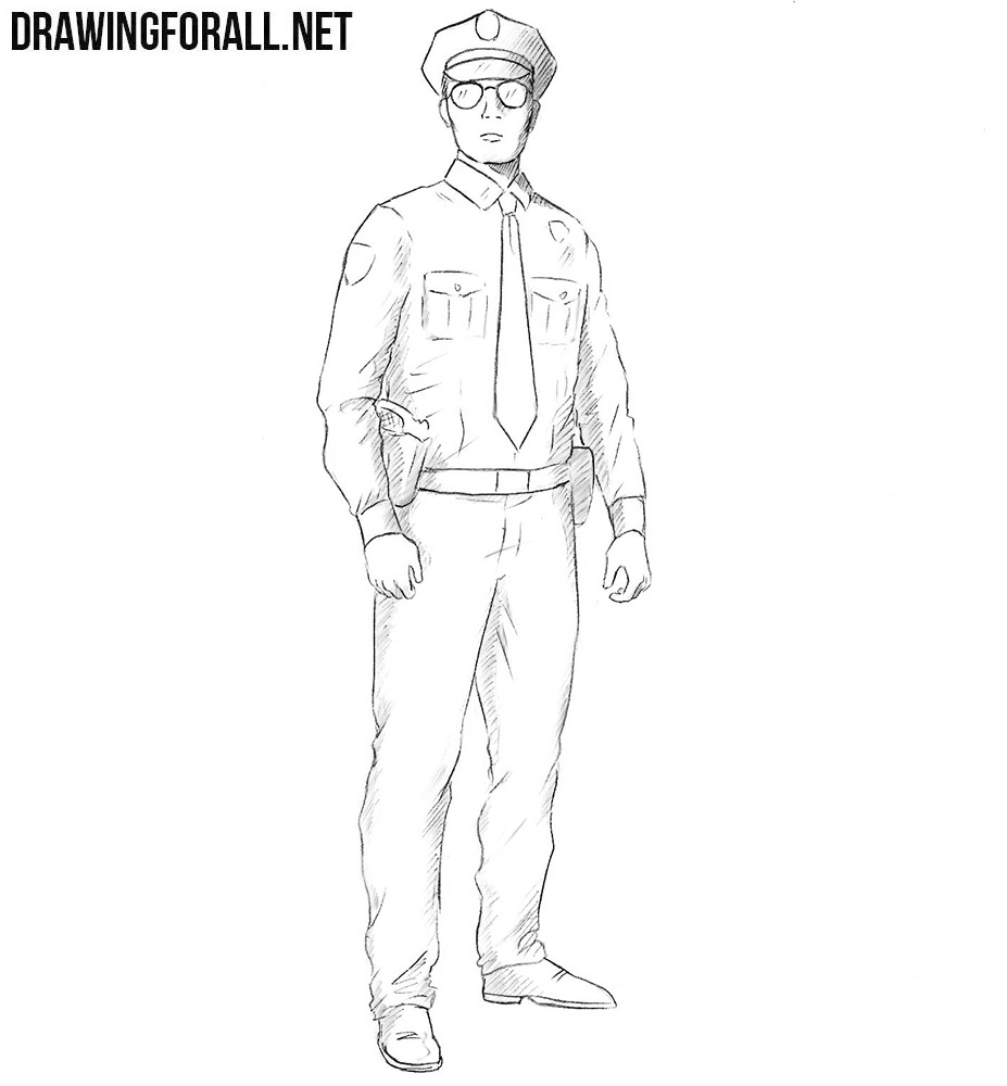 how to draw a policeman step by step how to draw a policeman step by step drawing tutorials policeman draw by how a to step step