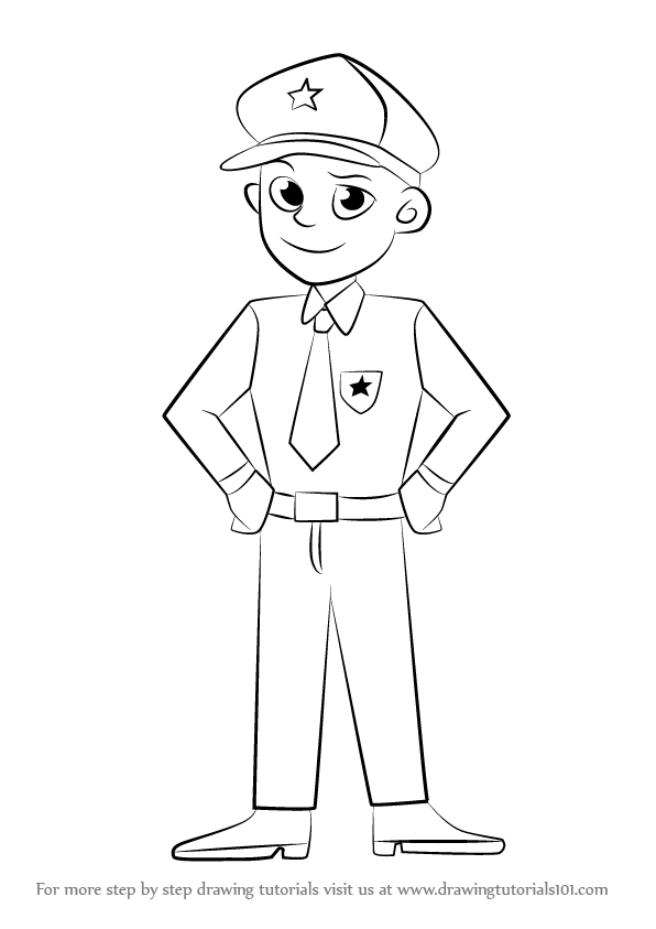 how to draw a policeman step by step how to draw policeman step by step policeman full body by step a step policeman to draw how