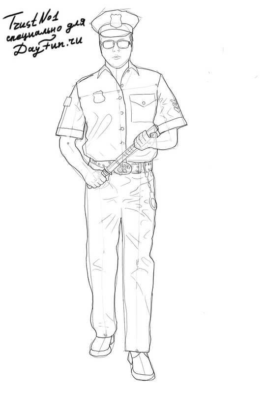 how to draw a policeman step by step pictures policeman and kids coloring pages college step a policeman draw how to step by