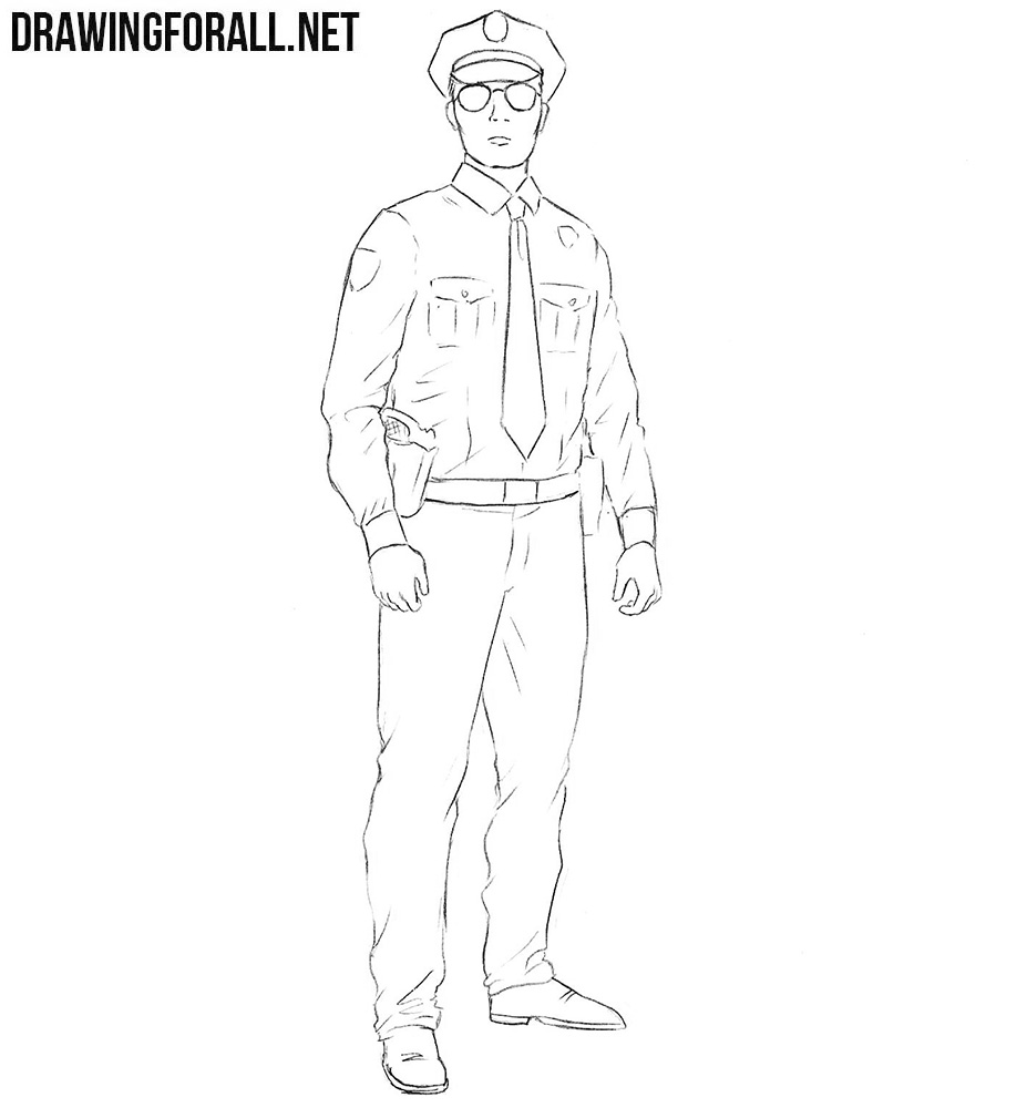 how to draw a policeman step by step policeman coloring pages draw a step how policeman by step to