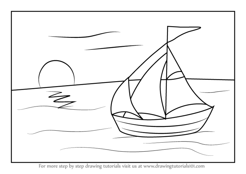 how to draw a sailboat how to draw a cartoon boat step coloring pages coloring sailboat how draw a to