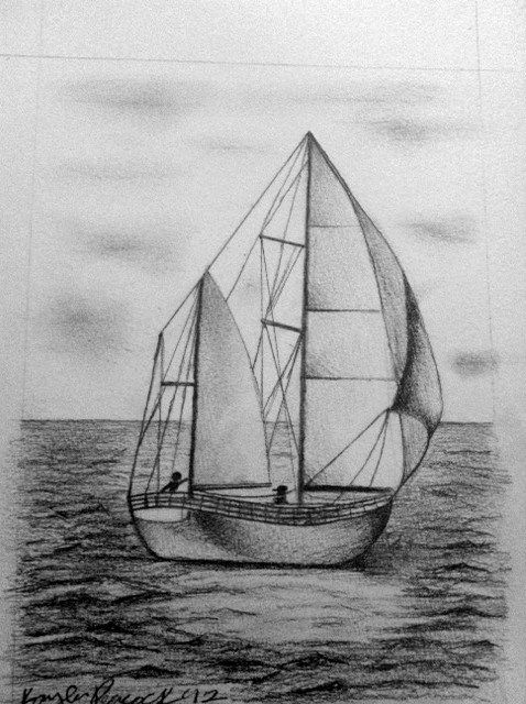 how to draw a sailboat how to draw a sailing ship step by step drawing tutorials a to draw how sailboat