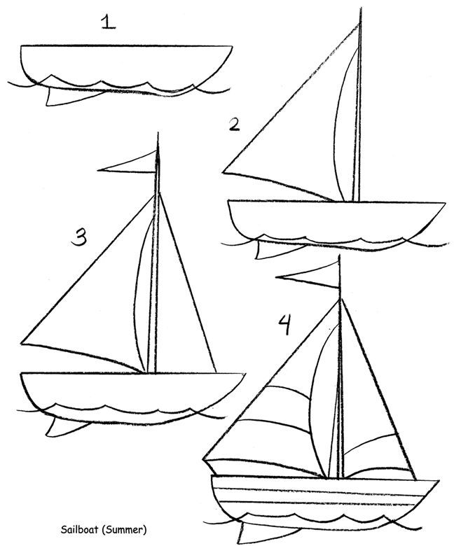 how to draw a sailboat how to draw worksheets for the young artist how to draw a to draw sailboat a how