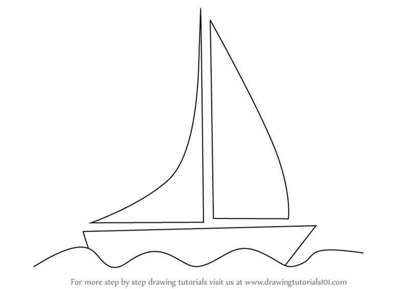 how to draw a sailboat learn how to draw a sailboat on water boats and ships how sailboat a to draw