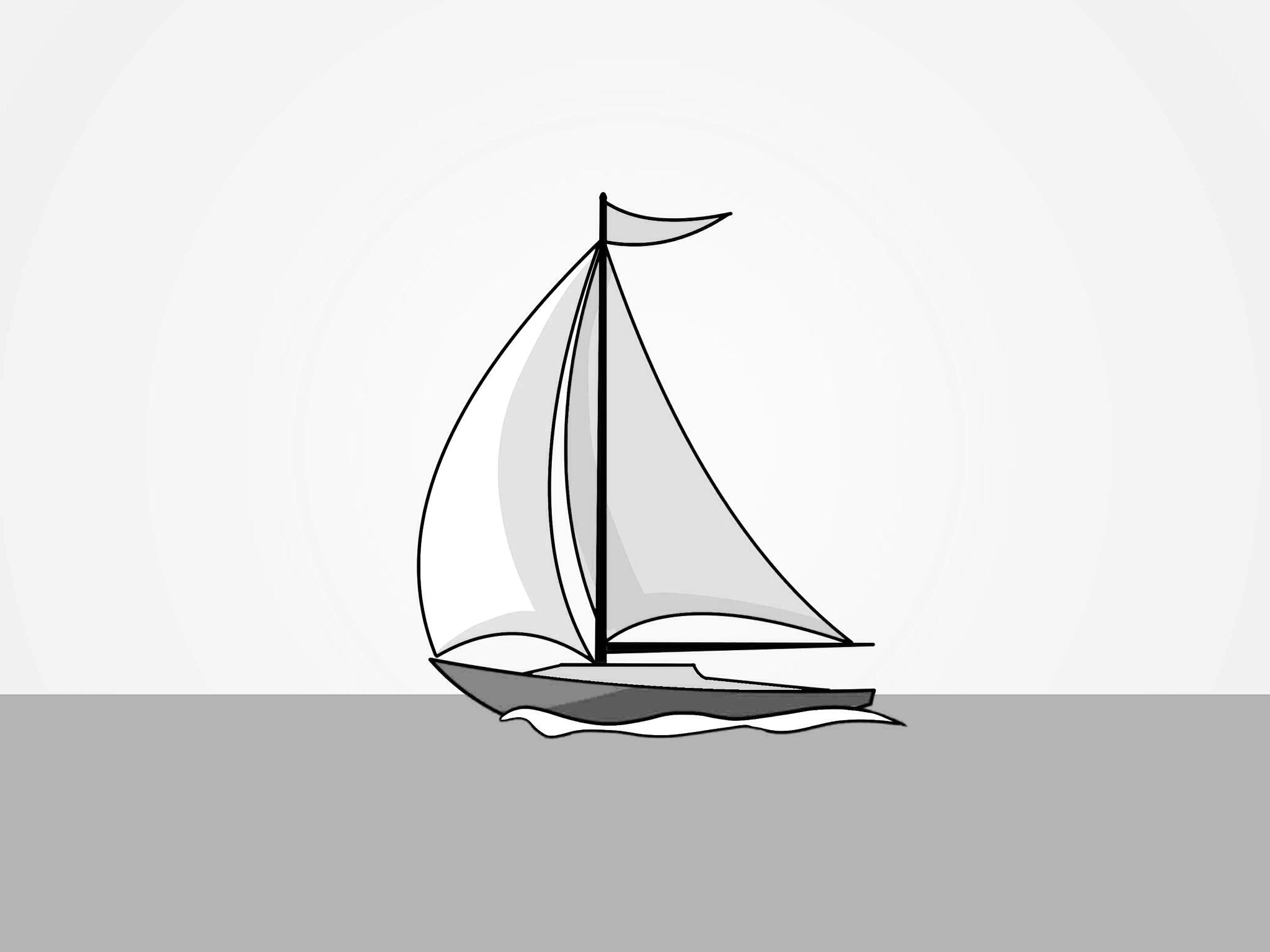 how to draw a sailboat sailboat drawing by nermine hanna to sailboat a draw how