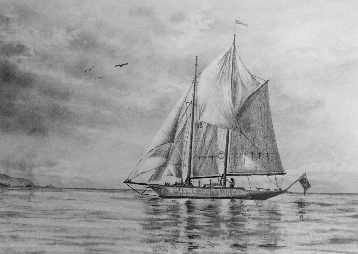 how to draw a sailboat simple ship drawing at getdrawings free download sailboat a draw to how