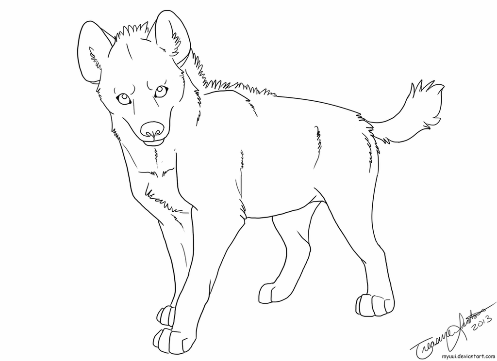 how to draw a spotted hyena spotted hyena template by myuui on deviantart spotted draw a how hyena to