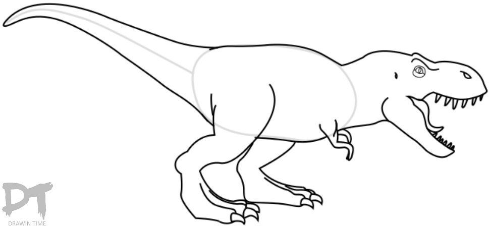 how to draw a t rex t rex drawing step by step art starts for kids how rex to a draw t