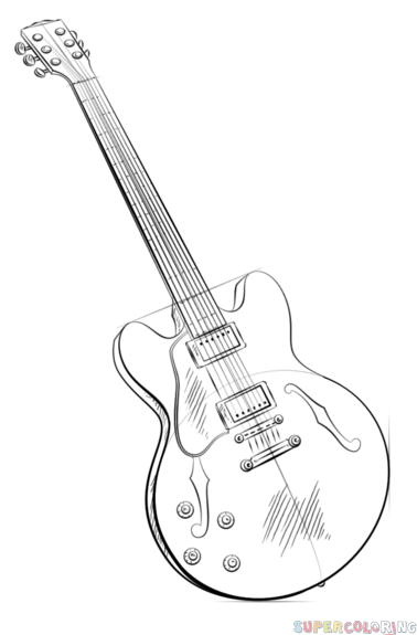 how to draw an electric guitar step by step how to draw an electric guitar step by step drawing step electric draw by how step to an guitar