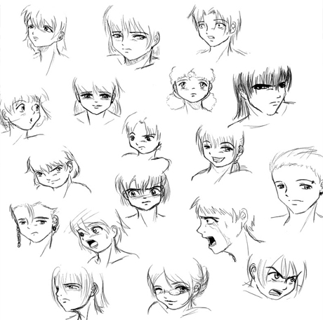 how to draw anime step by step step by step drawing anime faces at getdrawings free draw to step by how anime step