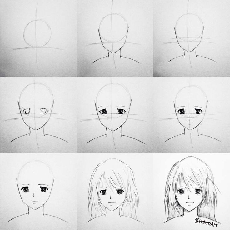how to draw anime step by step step by step tutorial on how to draw an animemanga girl anime by draw how step step to