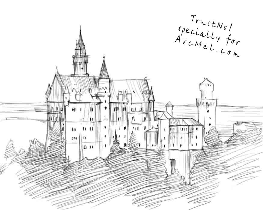 how to draw castle castle drawings step by step google search castle how to castle draw