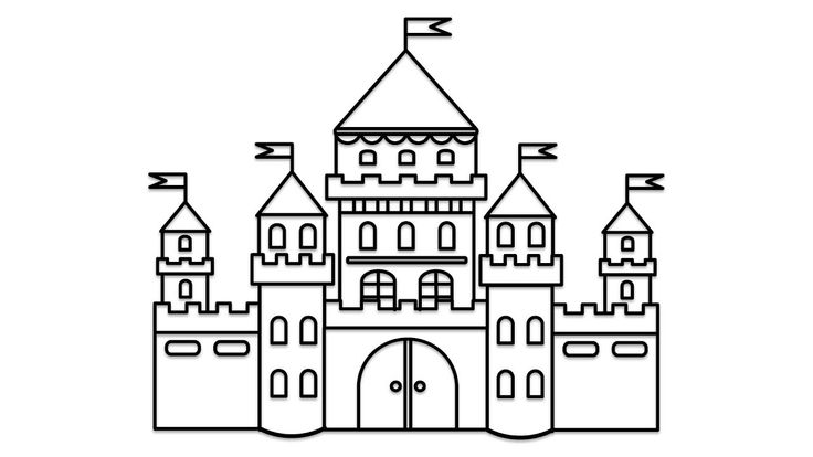 how to draw castle castle sketch easy at paintingvalleycom explore to how draw castle
