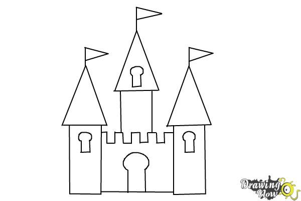 how to draw castle how to draw a castle with a moat step by step for beginners to how draw castle