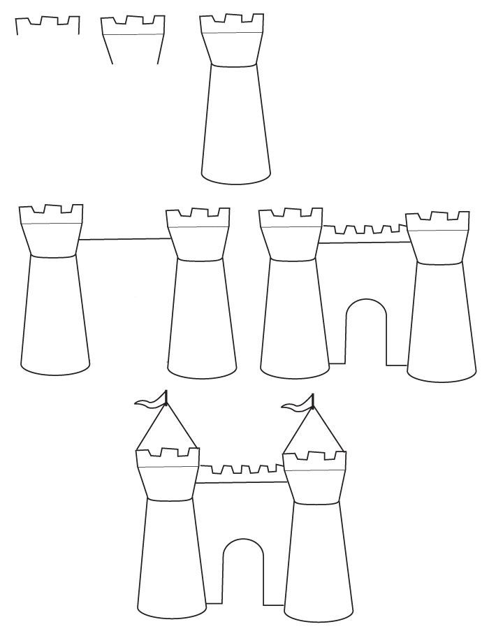 how to draw castle how to draw and color castle for kids drawing page of castle how draw to