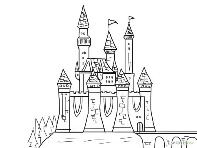 how to draw castle how to draw and color castle for kids drawing page of to castle draw how