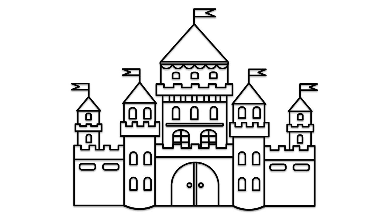 how to draw castle how to draw castle castle how to draw