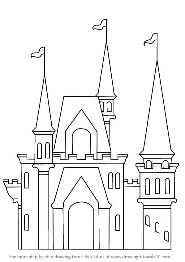 how to draw castle how to draw castle pencil drawing for kids step by step draw how to castle