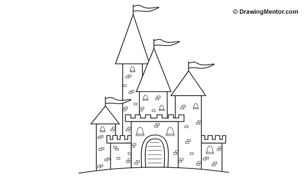 how to draw castle pin by nona wafi on صور منوعــــه art drawings for kids draw to castle how