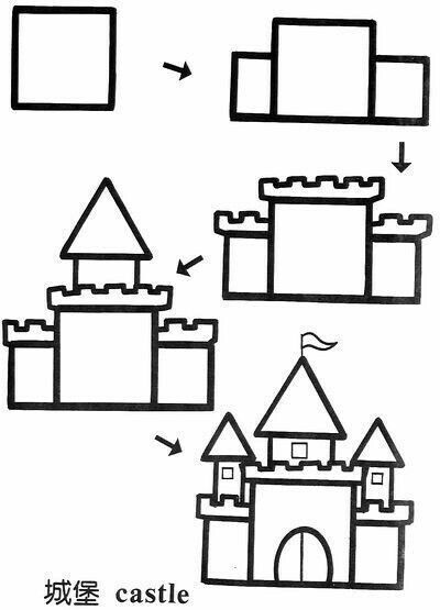 how to draw castle production nana sketches drawing and coloring for kids to draw how castle