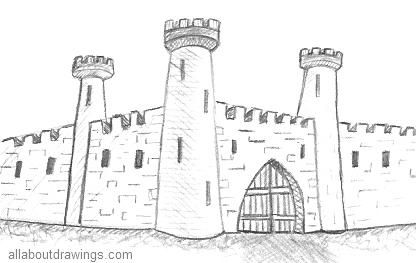 how to draw castle simple disney castle drawing at paintingvalleycom castle to how draw