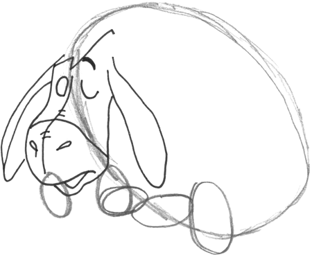 how to draw eeyore eeyore is looking at its tail coloring page free how eeyore draw to