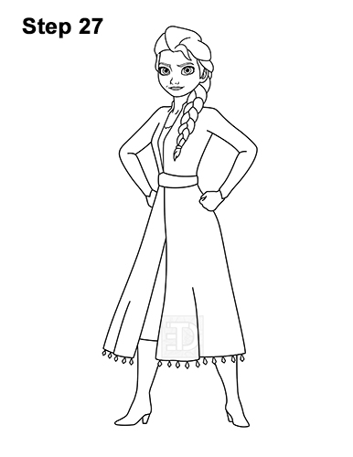 how to draw elsa easy step by step frozen 2 coloring pages elsa white dress colouring mermaid step step elsa draw how by easy to