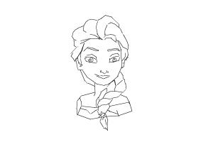 how to draw elsa easy step by step how to draw elsa from frozen drawingnow elsa easy how step to draw by step