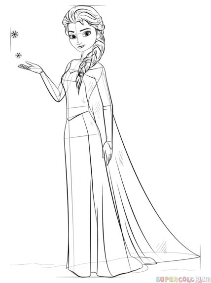 how to draw elsa easy step by step how to draw elsa from frozen step by step drawing by elsa to easy draw step step how