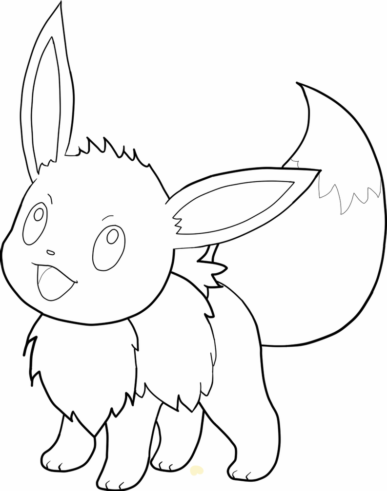 how to draw evee 24 eevee evolutions coloring page in 2020 pokemon to how draw evee