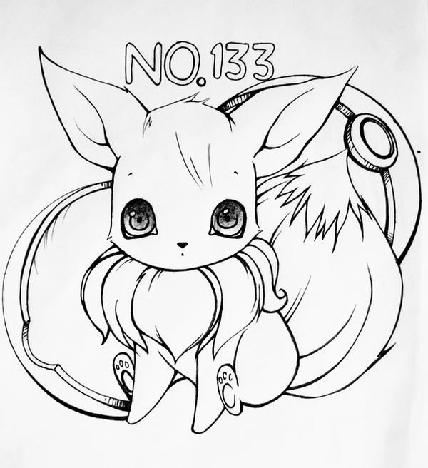 how to draw evee cute eevee drawings easy aesthetic guides how to evee draw