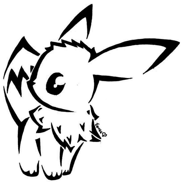how to draw evee eevee by togechu on deviantart pokemon tattoo tribal evee how draw to