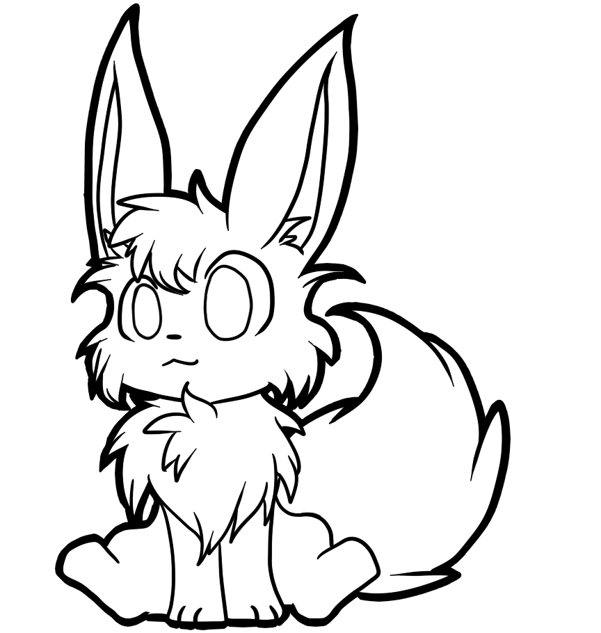 how to draw evee free eevee lineart by scruffyeevee on deviantart evee to draw how