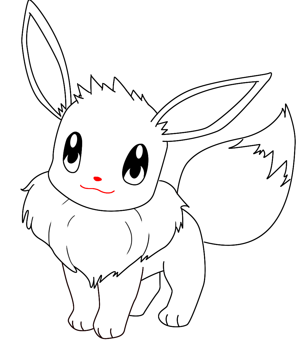 how to draw evee how to draw eevee step by step by laor arts youtube draw to how evee