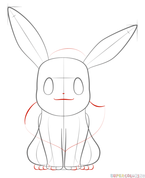 how to draw evee how to draw eevee the pokemon step by step drawing draw evee to how