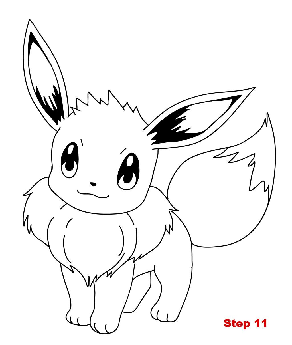 how to draw evee pokemon quot eeve quot coloring pages kids kentscraft how to draw evee