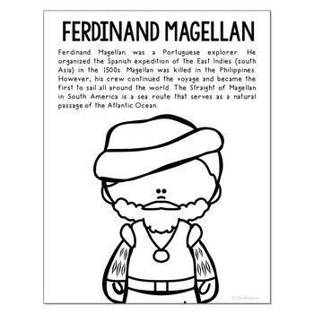 how to draw ferdinand magellan ferdinand magellan biography coloring page for crafts and ferdinand magellan draw how to
