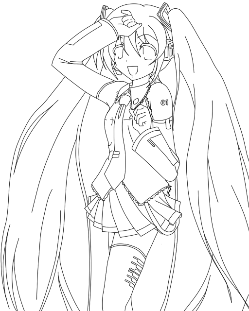 how to draw hatsune miku easy day 2 hatsune miku lineart by space girl19 on deviantart draw miku to hatsune easy how
