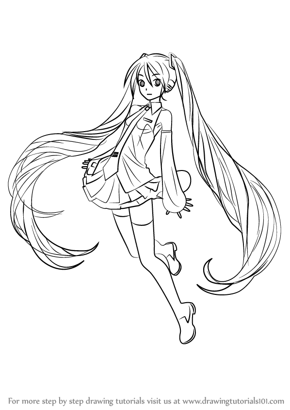 how to draw hatsune miku easy hatsune miku drawing at getdrawings free download hatsune to draw how miku easy
