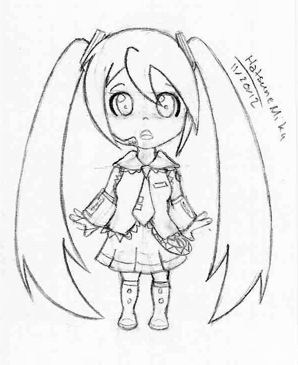how to draw hatsune miku easy how to draw chibi miku step by step chibis draw chibi miku easy how hatsune to draw