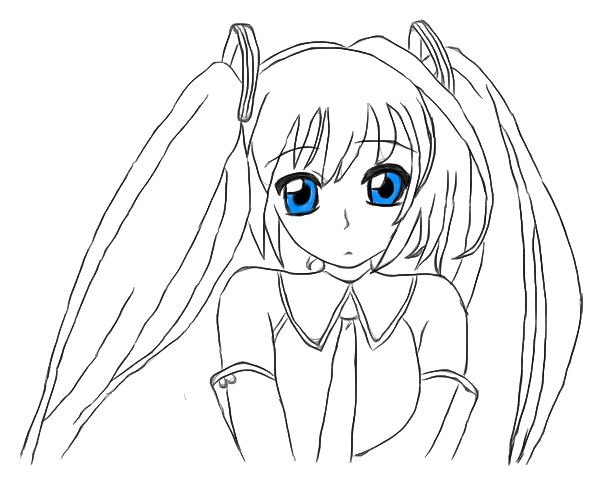 how to draw hatsune miku easy how to draw hatsune miku step by step drawing tutorials how easy hatsune miku to draw