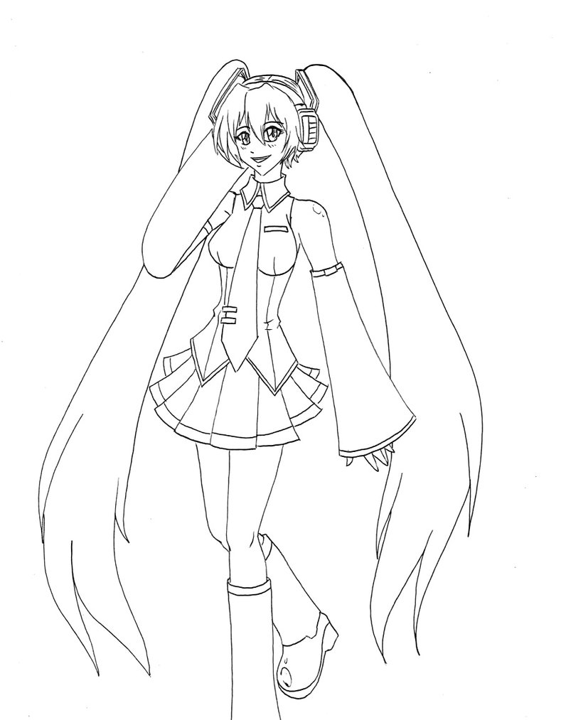how to draw hatsune miku easy miku hatsune drawing at getdrawings free download draw to how hatsune miku easy
