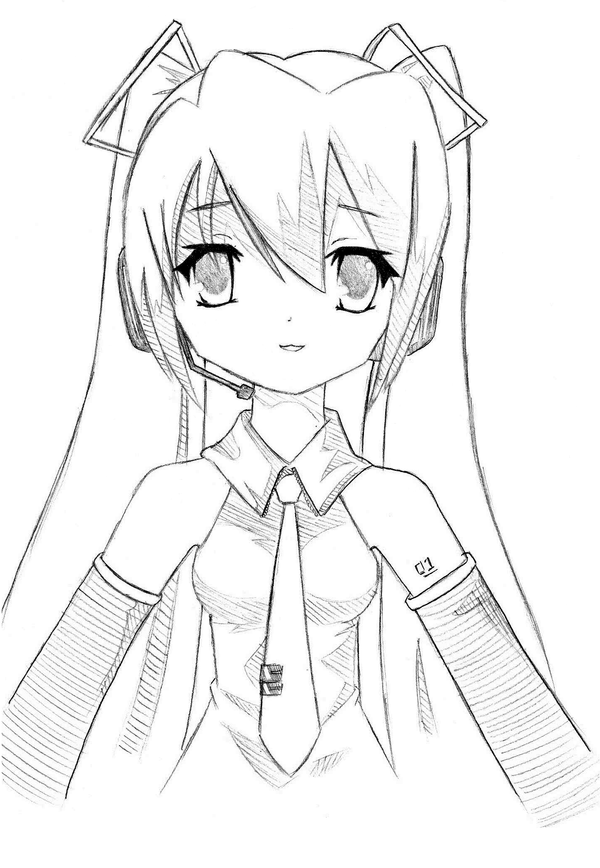 how to draw hatsune miku easy miku hatsune drawing at getdrawings free download easy to hatsune miku draw how