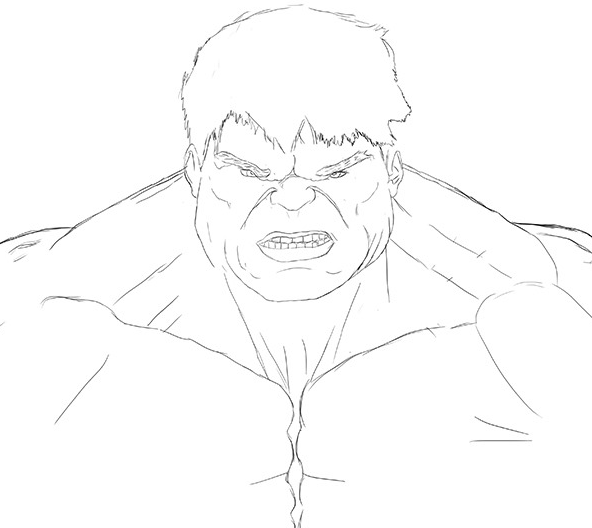 how to draw hulk easy step by step full body hulk pencil drawing bestpencildrawing hulk step easy step draw by how to