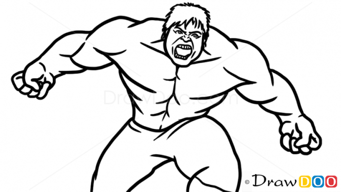 how to draw hulk easy step by step how to draw hulk simple step by step video lesson the by hulk step step draw how easy to